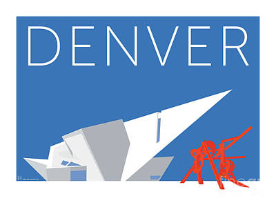 Denver Art Museum/blue Poster
