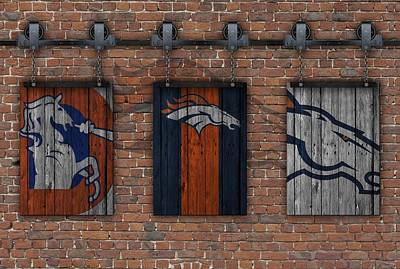 Denver Broncos Brick Wall Poster