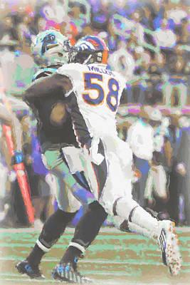 Denver Broncos Von Miller Poster by Joe Hamilton