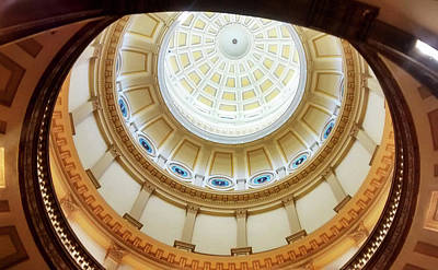 Poster featuring the photograph Denver Capitol Dome 1 by Marilyn Hunt