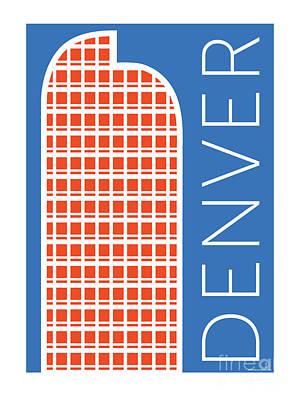 Denver Cash Register Bldg/blue Poster