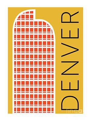 Denver Cash Register Bldg/gold Poster