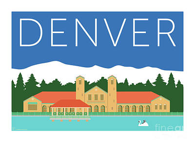 Denver City Park/blue Poster