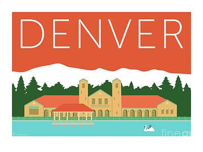 Denver City Park/coral Poster