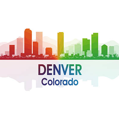 Denver Co 1 Squared Poster by Angelina Vick