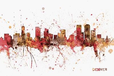 Denver Colorado Skyline Cityscape Poster
