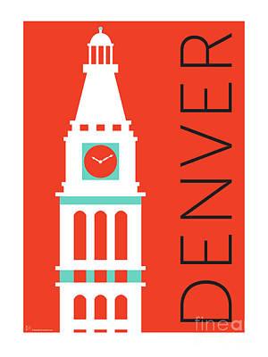 Denver D And F Tower/orange Poster by Sam Brennan