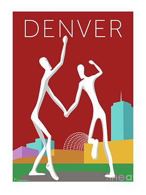 Denver Dancers/maroon Poster