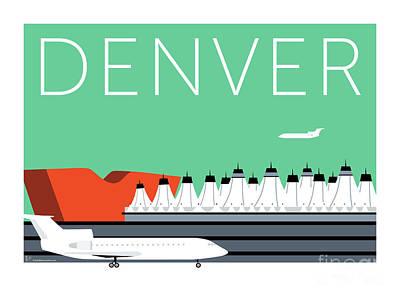 Denver Dia/aqua Poster