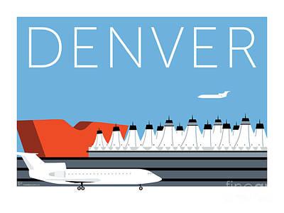 Denver Dia/blue Poster