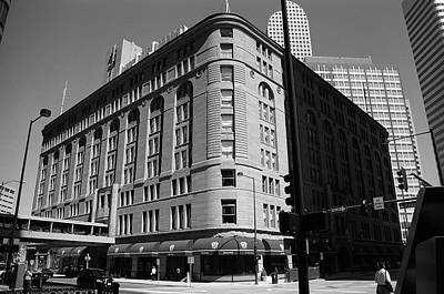Denver Downtown Bw Poster by Frank Romeo