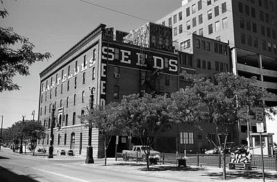 Denver Downtown Warehouse Bw Poster by Frank Romeo