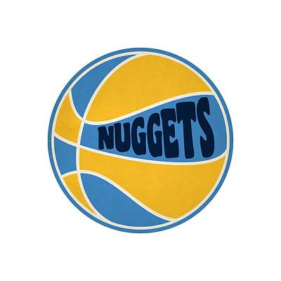 Denver Nuggets Retro Shirt Poster by Joe Hamilton