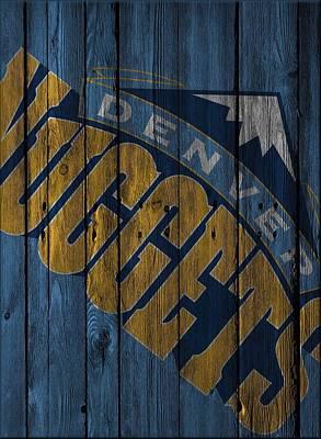 Denver Nuggets Wood Fence Poster by Joe Hamilton