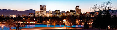 Denver Skyline Panorama City Park Poster by Gregory Ballos