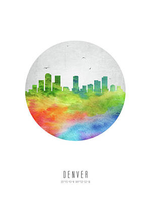 Denver Skyline Uscode20 Poster by Aged Pixel