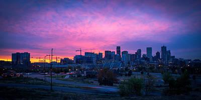 Denver Sunrise At Speer Poster