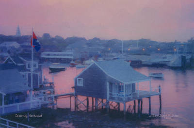 Departing Nantucket Poster by Bill McEntee
