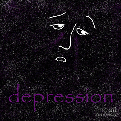 Depression Poster by Methune Hively
