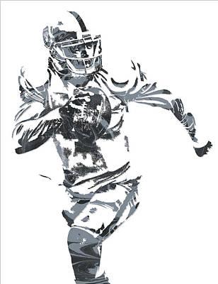 Derek Carr Oakland Raiders Pixel Art 10 Poster