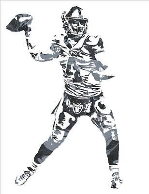 Derek Carr Oakland Raiders Pixel Art 11 Poster