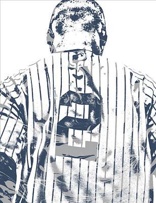 Derek Jeter New York Yankees Pixel Art 11 Poster