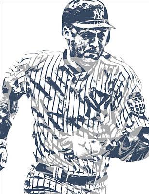 Derek Jeter New York Yankees Pixel Art 12 Poster
