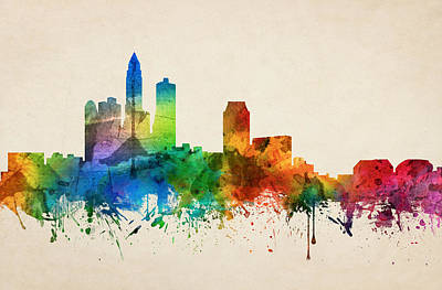 Des Moines Iowa Skyline 05 Poster by Aged Pixel