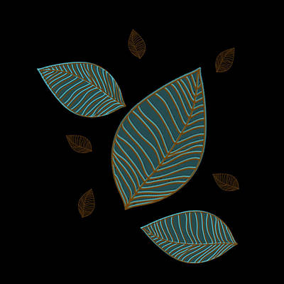 Descending Leaves Poster by Kandy Hurley