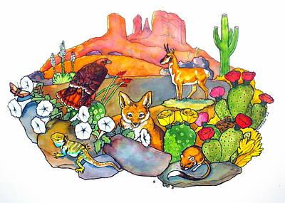 Desert Animals Poster by Jill Iversen