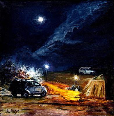 Desert Camp Poster by Amani Al Hajeri