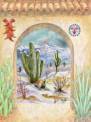 Desert Christmas Poster by Marilyn Smith