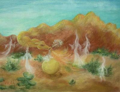 Desert Dragon Poster