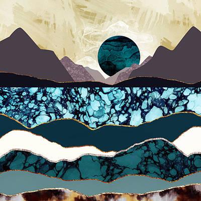 Desert Lake Poster by Katherine Smit