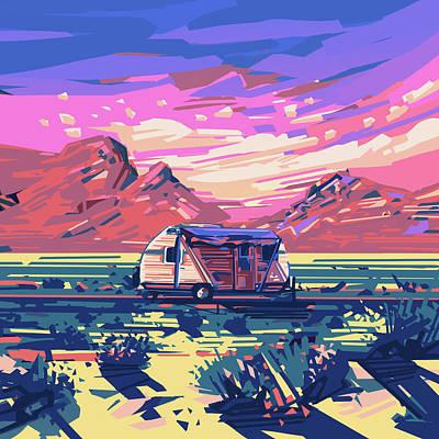 Desert Landscape Poster by Bekim Art