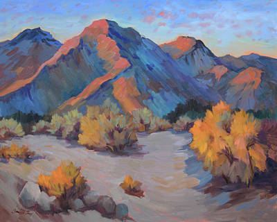 Poster featuring the painting Desert Light by Diane McClary