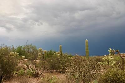 Desert Monsoon Clouds Poster