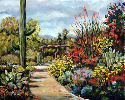 Desert Museum Garden Tucson Poster by Alexandra Maria Ethlyn Cheshire