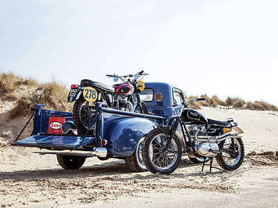 Desert Racing Poster by Mark Rogan
