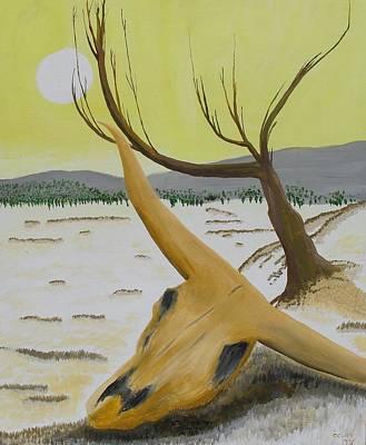 Desert Skull Poster by M Valeriano