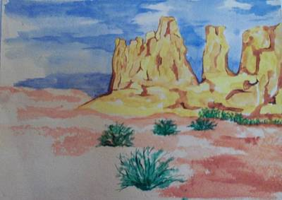 Poster featuring the painting Desert Sky by Erika Chamberlin