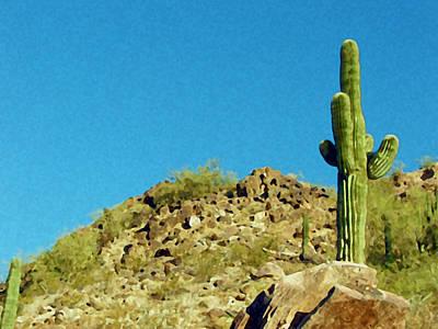 Desert Sky Poster by Judi Saunders