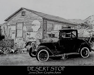 Desert Stop Poster by James Obert