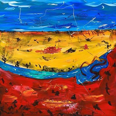 Desert Stream Poster