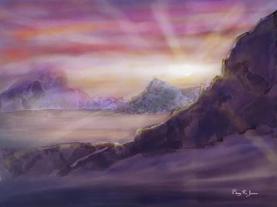 Poster featuring the digital art Desert Sunrise by Barry Jones