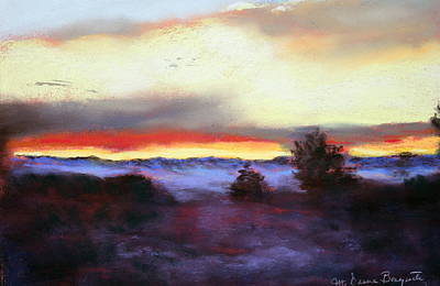 Poster featuring the painting Desert Sunset I by M Diane Bonaparte
