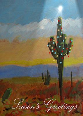 Desert Tree Card Poster by Robert Bissett