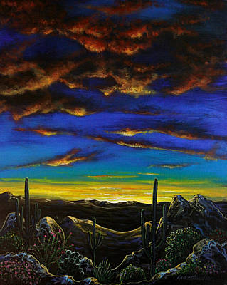 Poster featuring the painting Desert View by Lance Headlee
