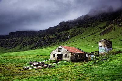 Deserted Barn In Iceland Poster