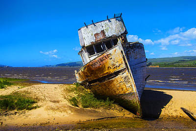 Deserted Beached Boat Poster